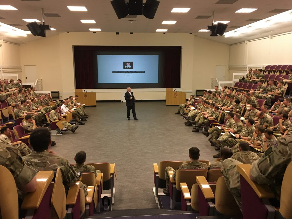 (2018) Speaking to 250 Officers at RMAS Sandhurst - Still an introvert?
